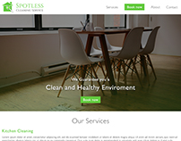 Spotless cleaning service - bootstrap