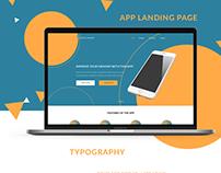 Orange & Blue - Landing Page Concept