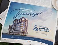 Mersin Middle East Hospital Newspaper Advertising