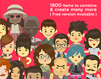 Free 400 Cute Cartoon Avatar and Character Generator