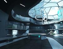 Futuristic hospital