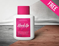 Free Cosmetic Bottle Mock-up in PSD