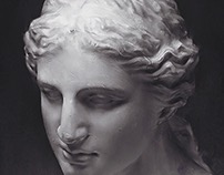 drawing practice from plaster statue