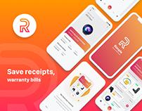RIMPLE Warranty & Return Tracker iOS App Concept
