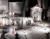 Paper sets presenting jewelry for Brigitte Magazine
