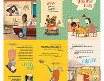 Folder sobre ilustradora Bruna Assis Brasil
