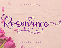Resonance Love Script Font