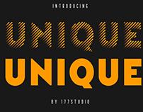 Free Font - Unique Stripes