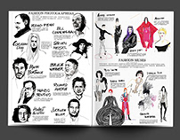 Fashion Muses illustrations MILK X HK magazine