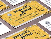 Dorcas Students' Recital Booklet and Ticket Design