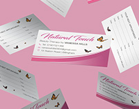 Natural Touch Beauty Therapy Marketing Materials