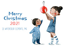 Merry Cristmas illustrations 2021