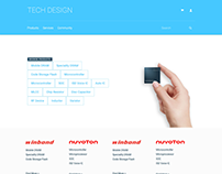 Homepage concepts of Tech Design for Winbond