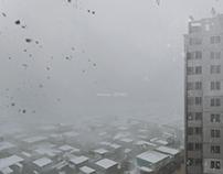 Post-apocalyptic landscape outside my window