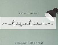 FREE | Lifelism Monoline Script