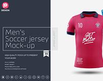 Men's Soccer Jersey Mockup V8