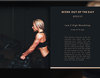 Daily UI #062 : Work out of The Day