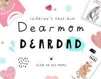 Dearmom & Deardad - Children's font