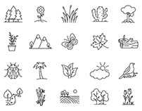 Nature Vector Icons