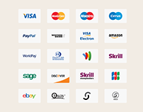 20+ Payment Method / Credit Card Icons for E-commerce
