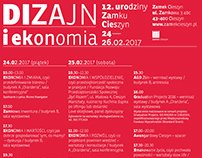 Poster of 12th birthday of Zamek Cieszyn design center