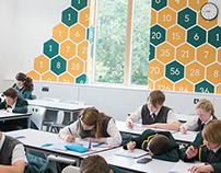 Worcester Maths Classroom Feature Walls