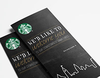 Starbucks — Dépliant et carte postale