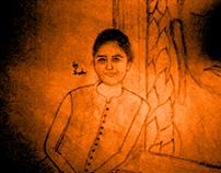 Black & White Pencil Sketch Bhutha
