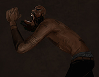 portrait of mcRide from Death Grips