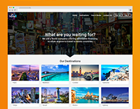 Landing page for Travel company