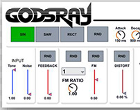 GODSRAY Digital Synthesizer Logo Design