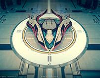 SciFi Spaceship Hangar 3D Model