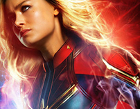 Captain Marvel - 3D Halla Star