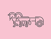 Illustration: Trucks, Cars and Bikes