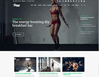 Masonry No Sidebar - Fitness WordPress Theme