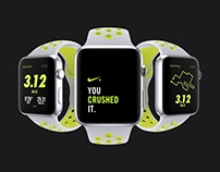 Apple Watch Nike Platinum / Volt