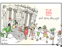Invitation for The Met's Staff Holiday Party