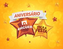 Rede Erguer - Campanha Aniversário