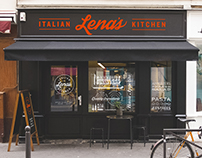 Lena's Italian Kitchen - Restaurant Logo & Branding