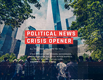 Political News Crisis Opener | After Effects Template