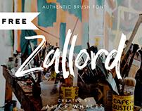 FREE | Zallord - Brush Font