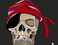 Vector Pirate created in Adobe Photoshop