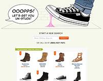 Zappos.com 404 page design