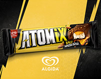 Algida Atomix - Packaging & Ad Campaign