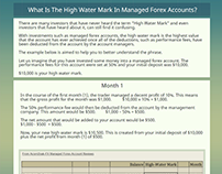Forex High Water Mark