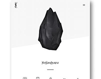 Yves Saint Laurent Landing Page