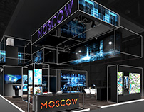 Design of the exhibition stand of Moscow RUSSIAN INVEST