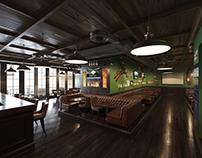 Дизайн-проект и реализация - спорт кафе pub.