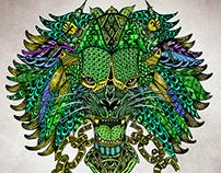 Lion illustration in Colour