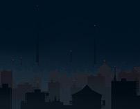 Sci-Fi dusk town